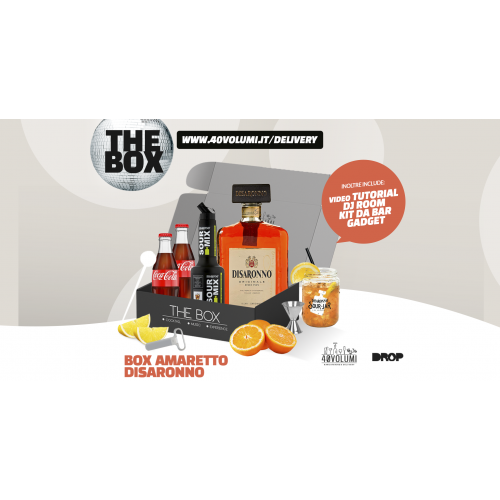 box amaretto disaronno per 40 volumi