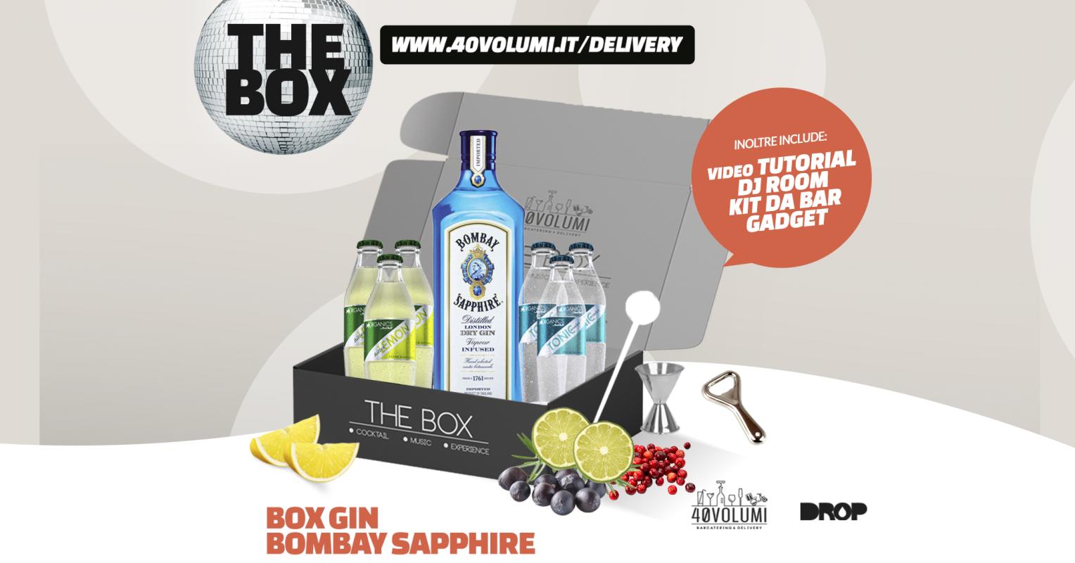 box gin bombay sapphire per 40 volumi
