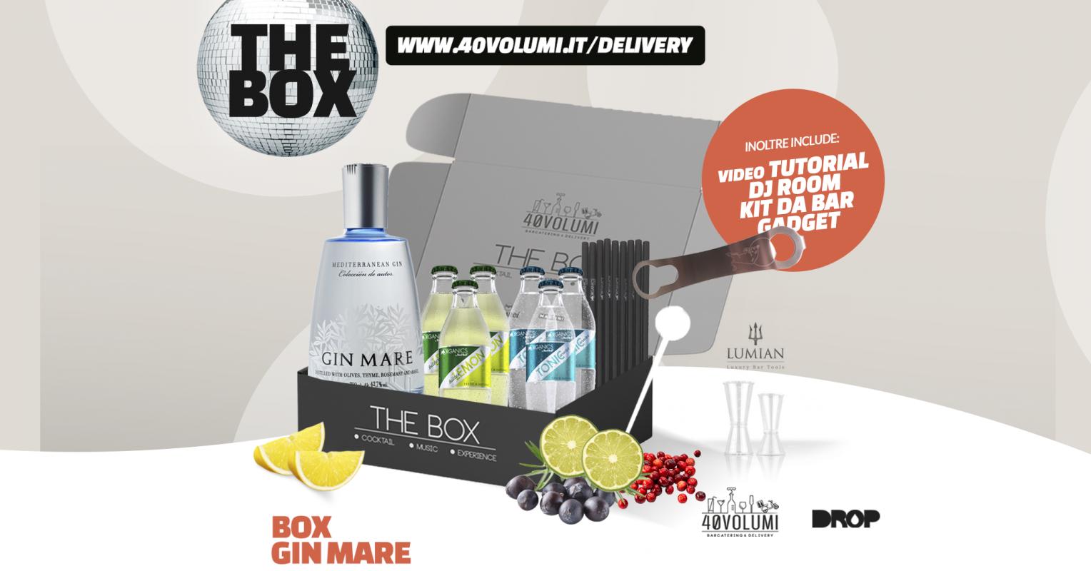 box gin mare per 40 volumi
