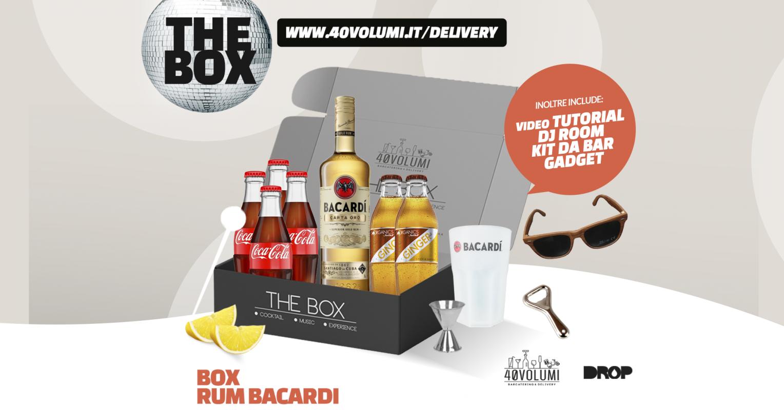 box rum bacardi per 40 volumi