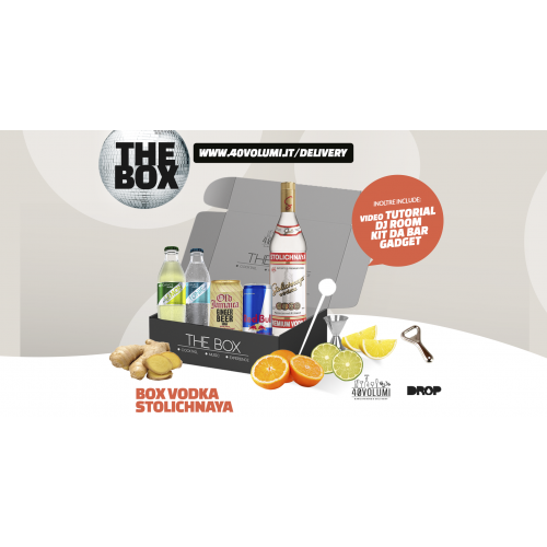 box vodka absolut per 40 volumi
