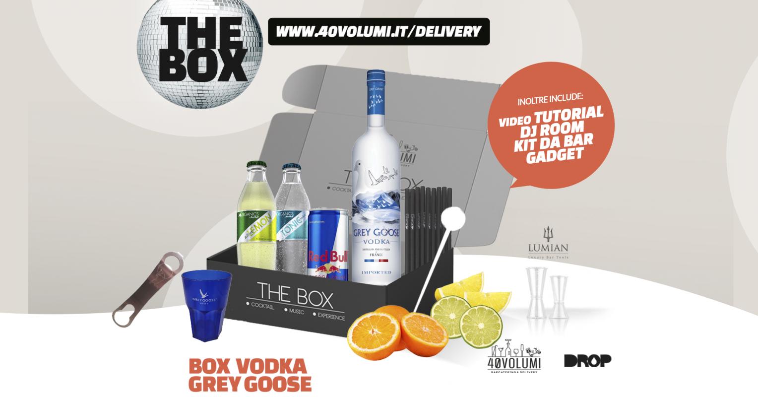 box vodka grey goose per 40 volumi
