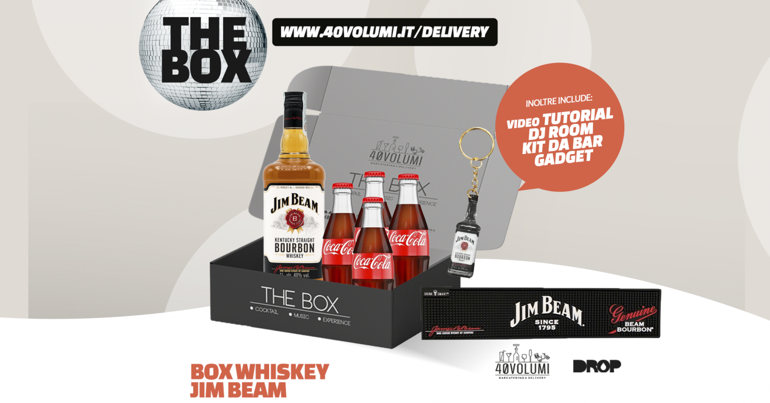 box whiskey him beam